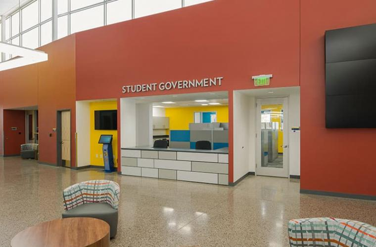 Charleston Campus Student Government Office inside the Student Union