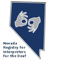 Nevada Registry fo Interpreters for the Deaf logo