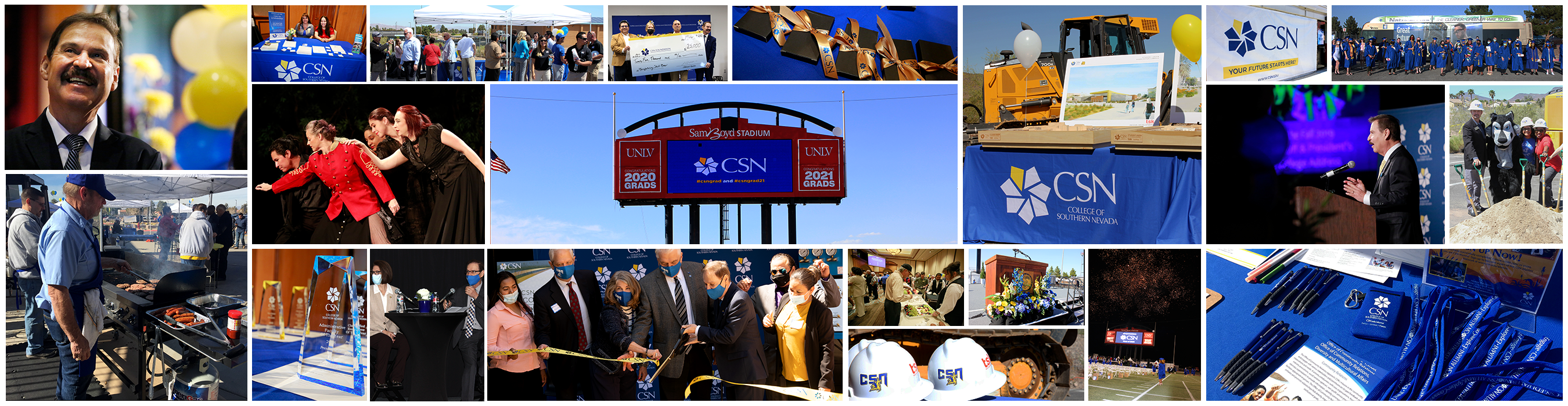 picture collage of past, CSN events