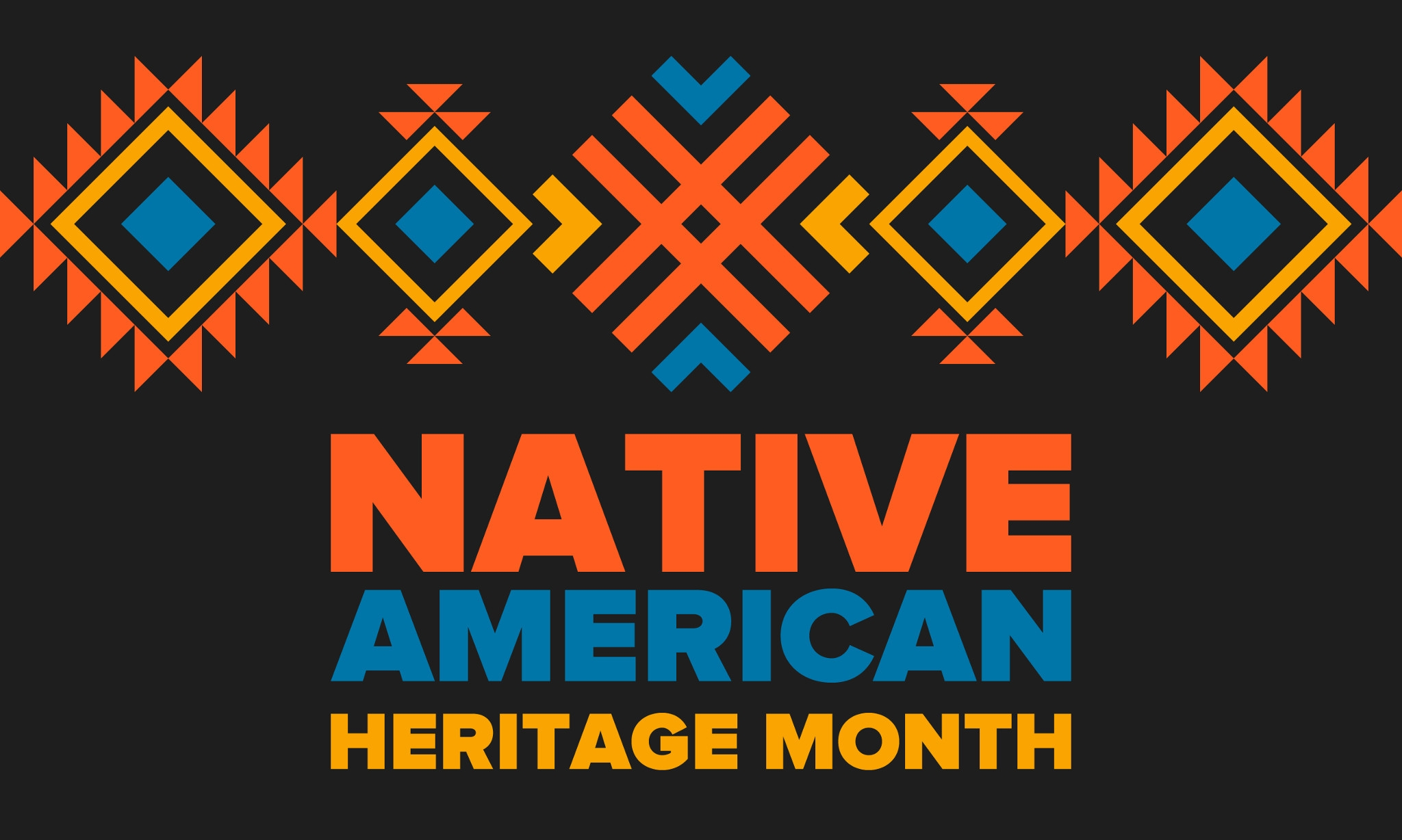 """Simple image with """"Native American Heritage Month"""""""