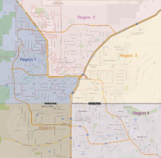 CCSD region map
