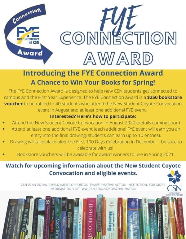 FYE Connection Award Promo