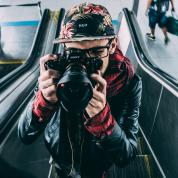 image of man with a camera