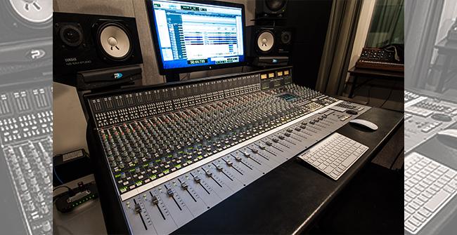 Audio Recording Control Room Mix Console