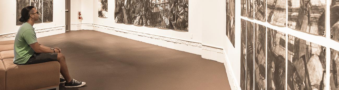 Student in Fine Art Gallery