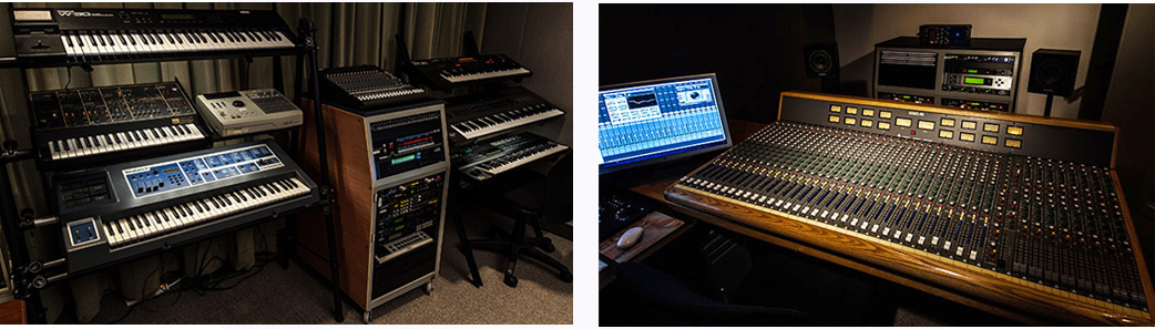 Trident Recording Mix Board and Keyboards