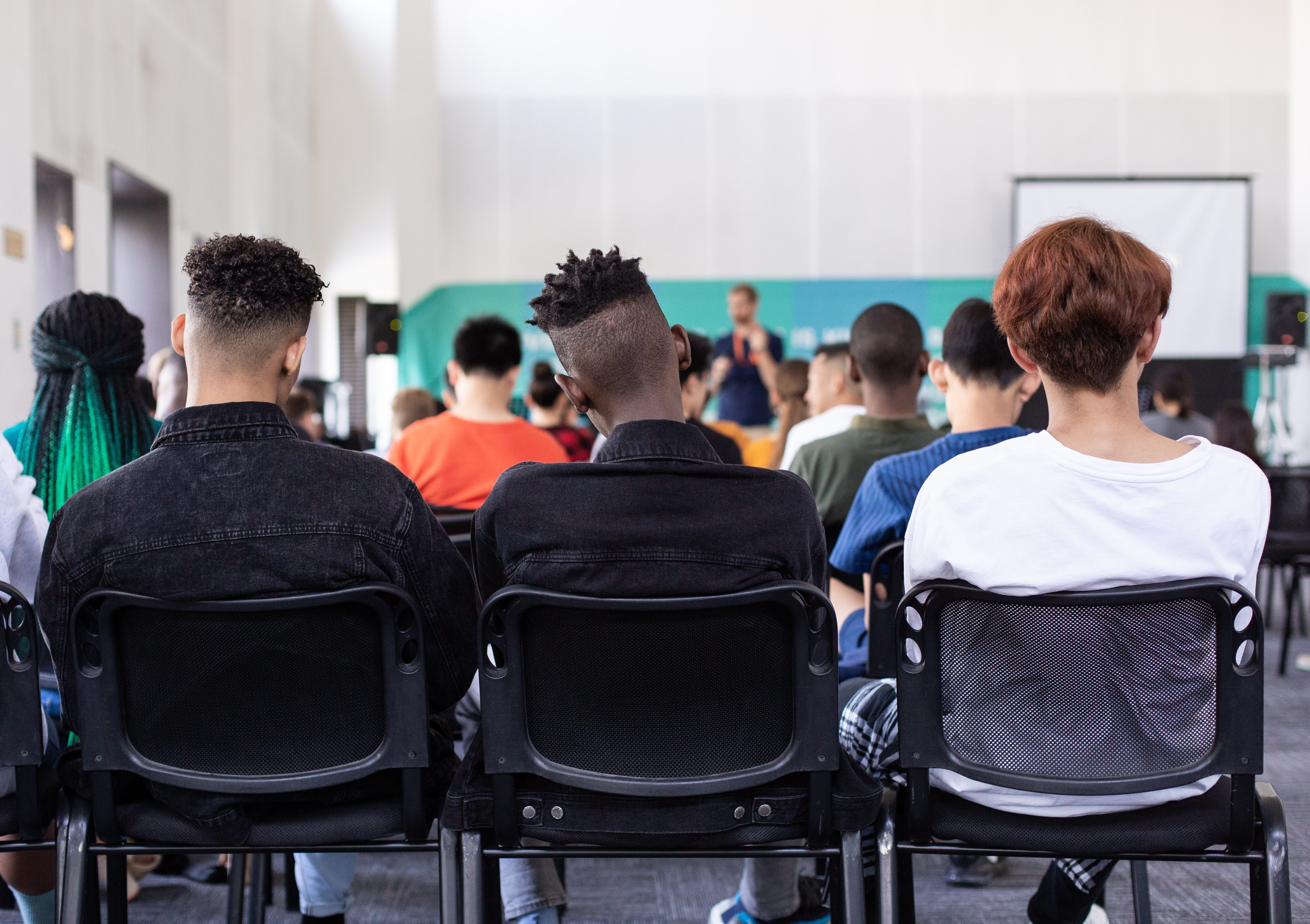 Image of a classroom lecture