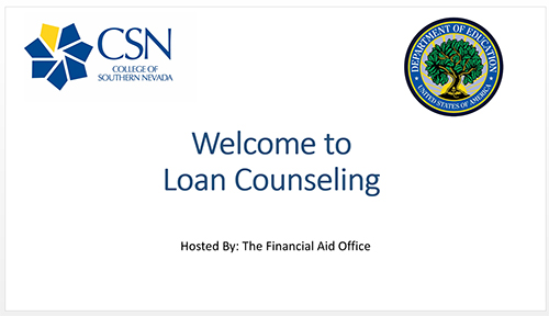 Welcome to Loan Counseling