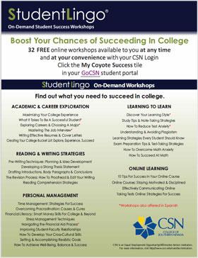 StudentLingo - On-Demand Student Success Workshops