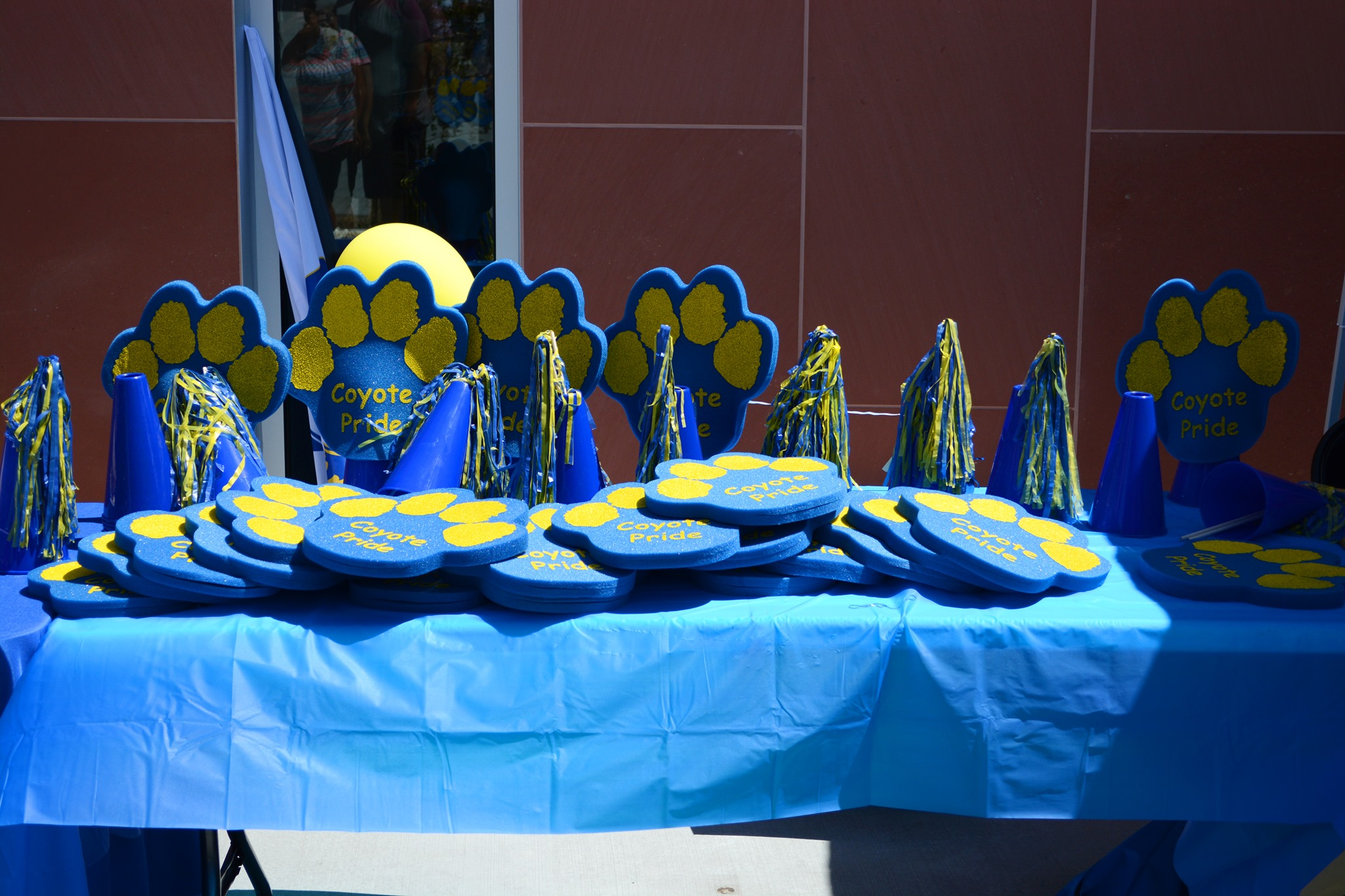 Table of Coyote Pride Foam Paws
