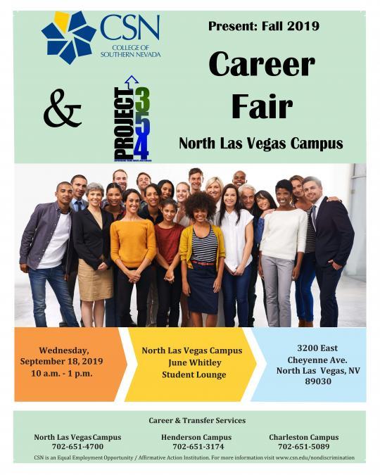 CSN & Project 354 Present Fall 2019 Career Fair