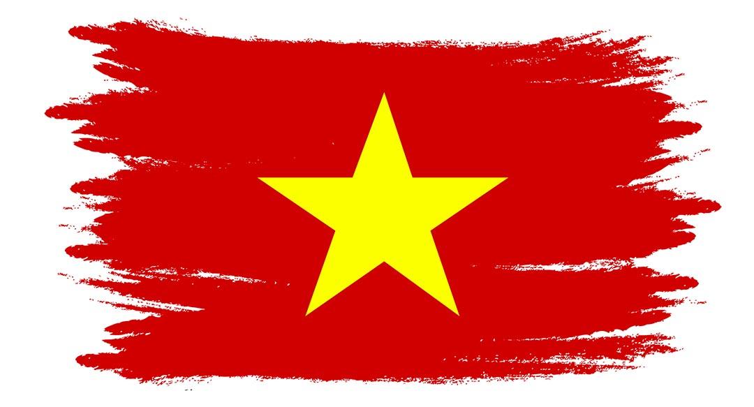 Vietnam Watercolor Flag