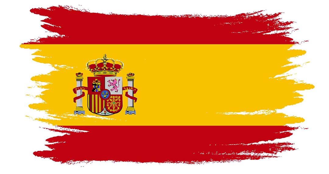 Spain Watercolor Flag