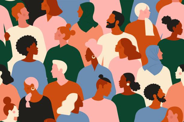 Cartoon image of multiple people
