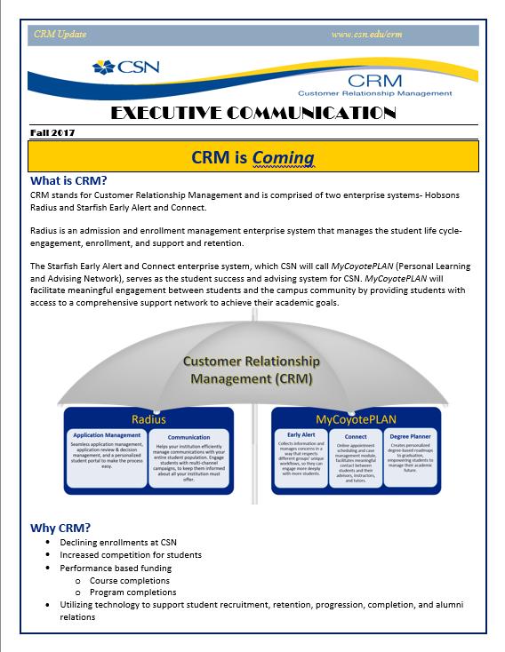 CRM Executive Communication