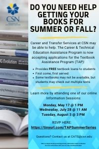 Textbook Assistance Program and info sessions