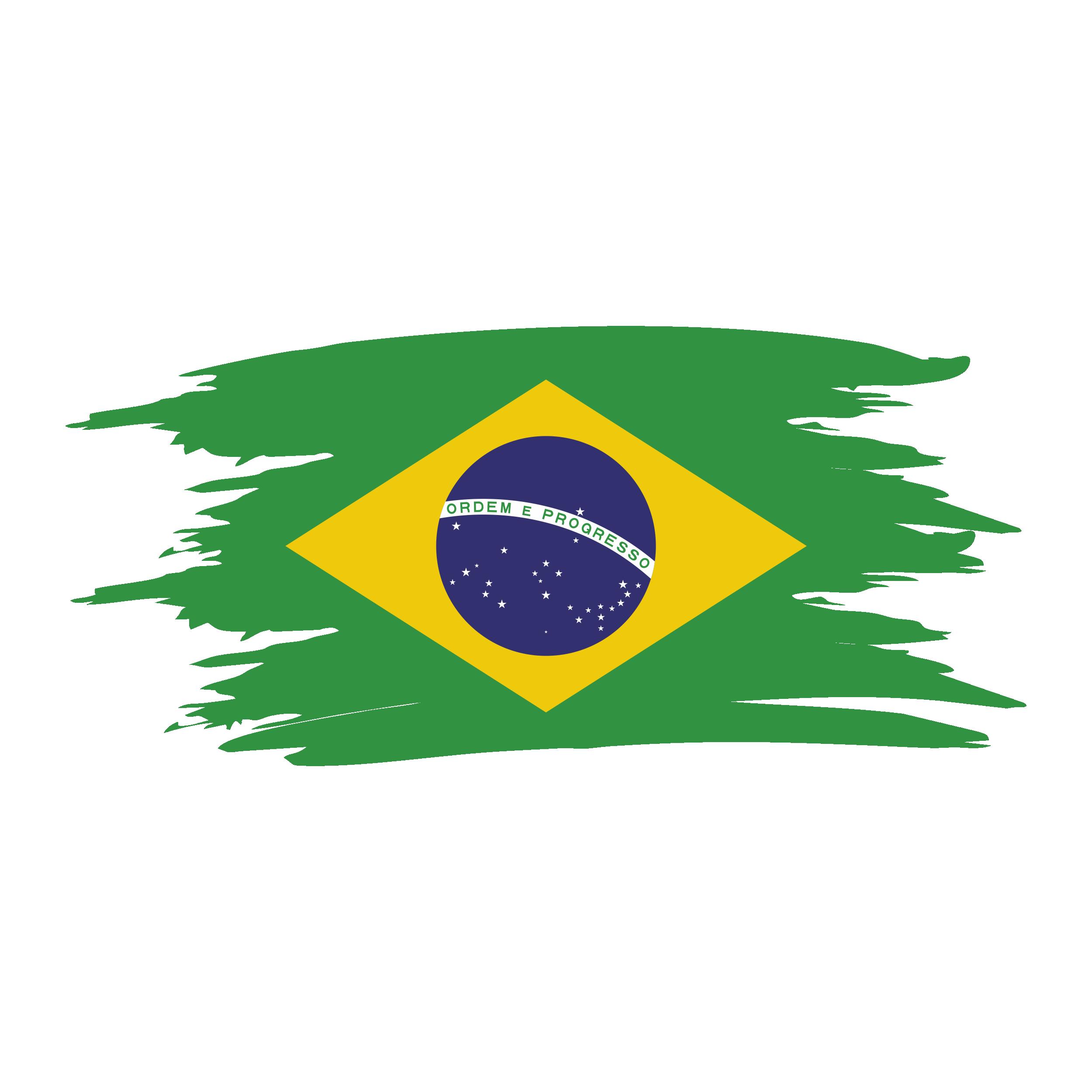 Brazil Watercolor Flag