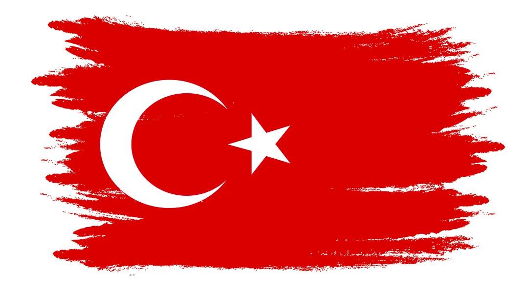 Turkey Watercolor Flag