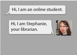 Example of the online librarian chat feature.