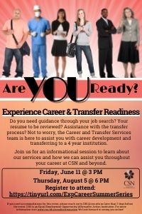 Experience Career and Transfer Readiness