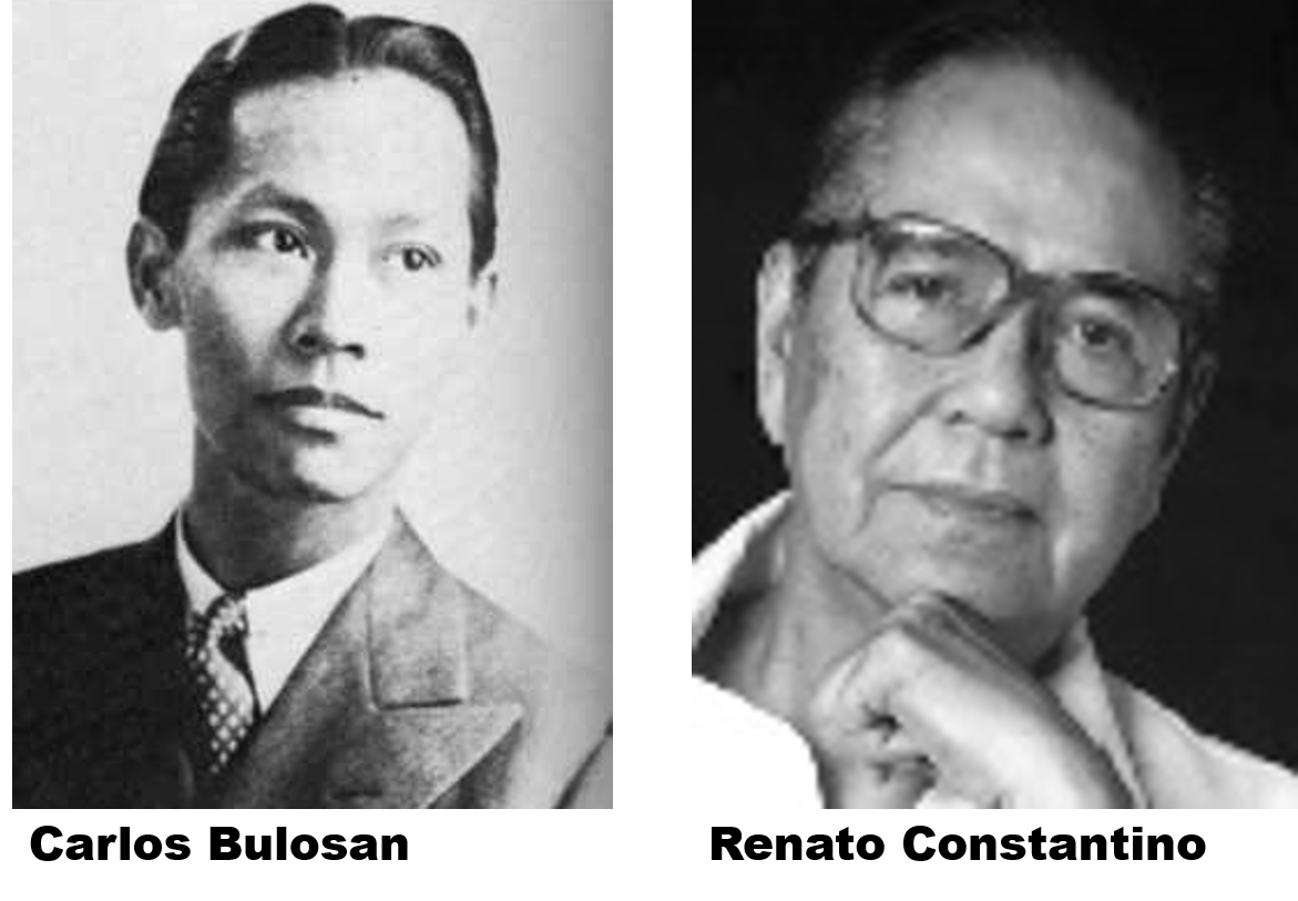 Left: Image of Bulosan, Right: Image of Constantino