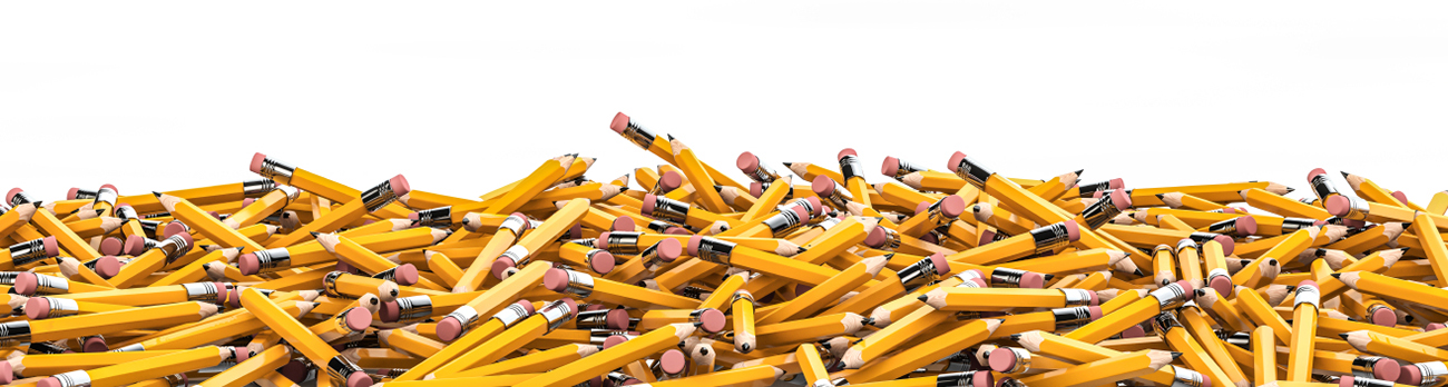 Hundreds of pencils in a pile