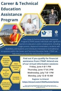 Career and Technical Education Assistance Program Information Sessions