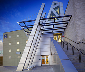 """Front Staircase of """"C"""" Building on North Las Vegas Campus"""