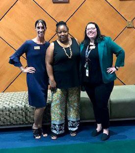Picture of Yvonne Jackson, Dr. Violanti & Kayla Buscher