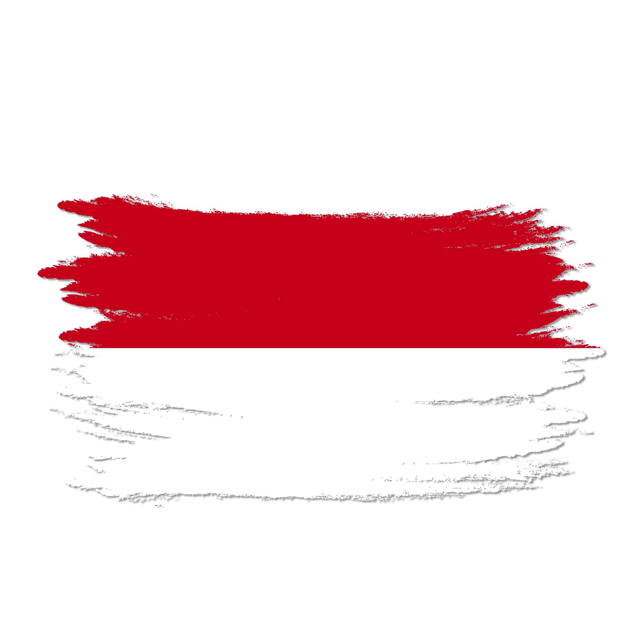 Indonesia Watercolor Flag