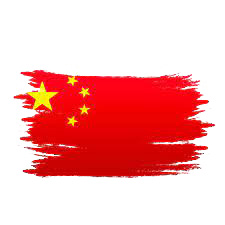 China Watercolor Flag