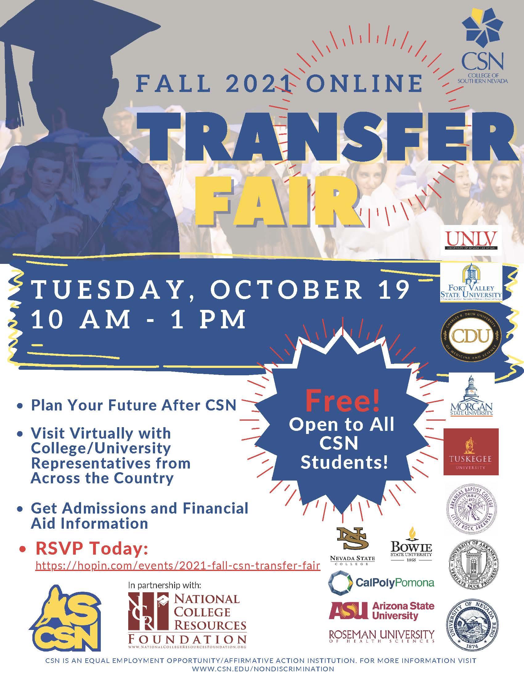 Fall 2021 Online Transfer Fair