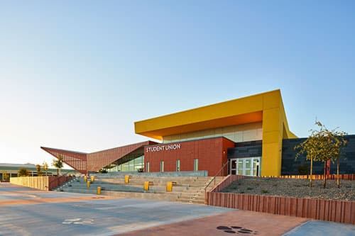 Exterior View of completed Henderson Student Union