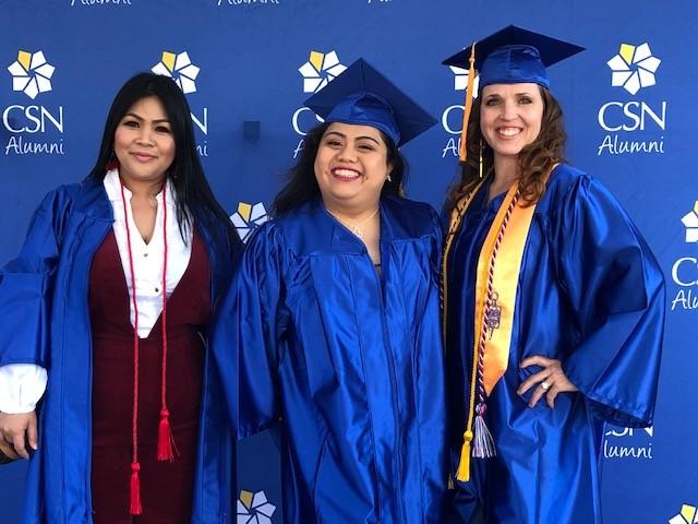 3 graduates