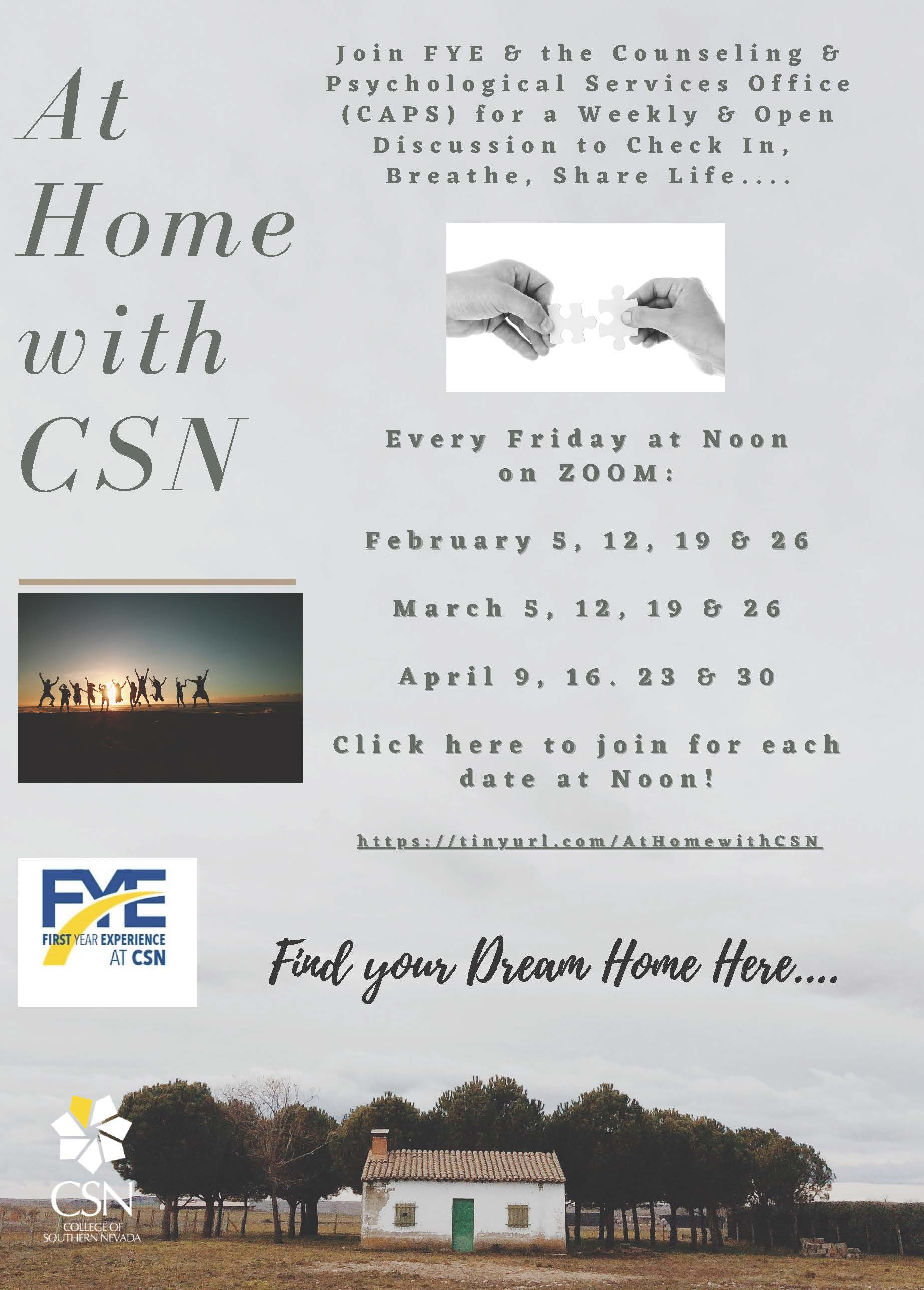 At home with CSN poster