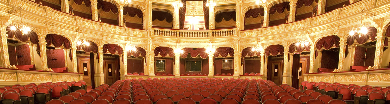 Panoramic view of the theatre from the stage point of view
